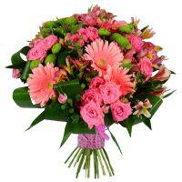 Розовый букет любви
