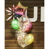 Фонтан из шаров С Днем  Рождения