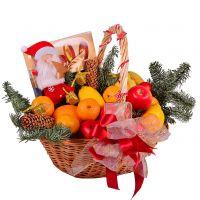 Новогодняя корзина - Фрукты и сладости